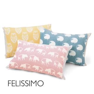 フェリシモ(FELISSIMO)のましまろん様専用🌿【新品】のびのび動物枕カバー (ブルー、ピンク)(シーツ/カバー)