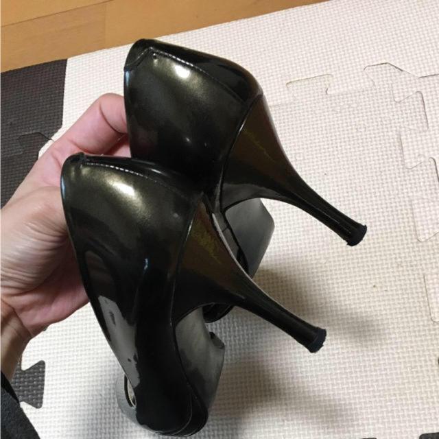 DIANA(ダイアナ)のDIANA ダイアナ ブロンズ オープントゥ パンプス レディースの靴/シューズ(ハイヒール/パンプス)の商品写真