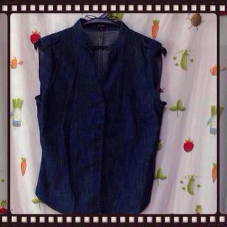 ジョゼフ(JOSEPH)のノースリーブデニムシャツ(シャツ/ブラウス(半袖/袖なし))