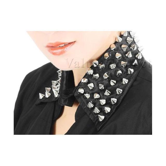 新品パンクつけ襟トゲトゲ円錐スタッズ/ケラKERA/黒 メンズのファッション小物(その他)の商品写真