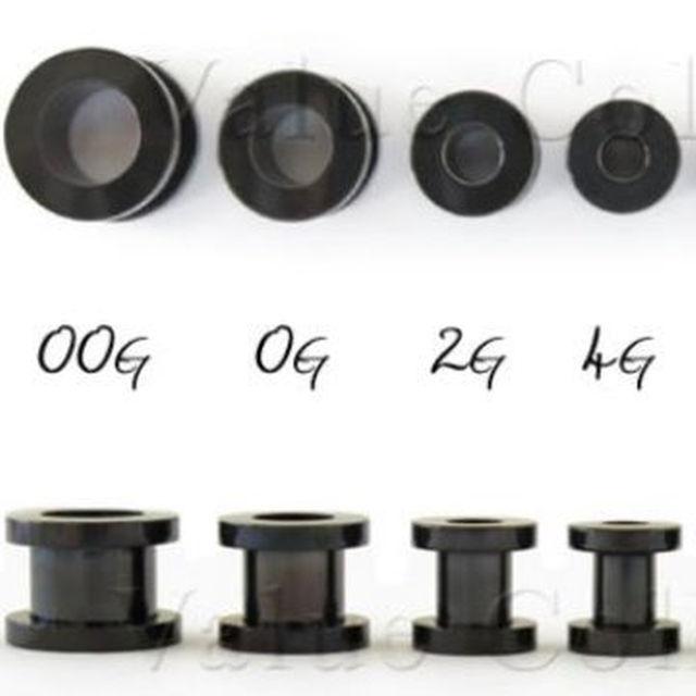 新品ステンレスフレッシュトンネルピアス黒00G~18Gお好きな1個ご選択ください メンズのファッション小物(その他)の商品写真