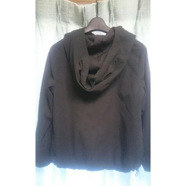 LOWRYS FARM(ローリーズファーム)の黒フード付きブルゾン レディースのジャケット/アウター(ブルゾン)の商品写真