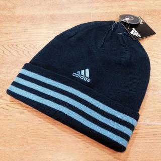 アディダス(adidas)の新品 アディダス ニット帽 ネイビー(ニット帽/ビーニー)