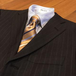 オリヒカ(ORIHICA)のスーツカンパニー メンズテーラードジャケット チャコールグレー ストライプ(スーツジャケット)
