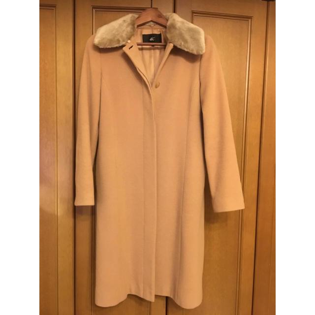 4℃(ヨンドシー)の4℃ キャメルウールコート  レディースのジャケット/アウター(ロングコート)の商品写真