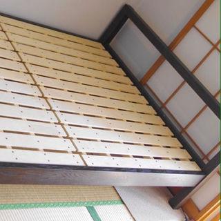 【配送無料】無印良品すのこベッド&シモンズ10万円マットレスの画像