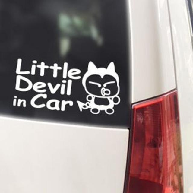 Little Devil IN CAR(ベビーインカータイプ)ステッカー 自動車/バイクの自動車(車外アクセサリ)の商品写真