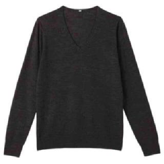 ムジルシリョウヒン(MUJI (無印良品))の無印良品 MUJI ウールシルク洗えるVネックセーター ニット カットソー(ニット/セーター)