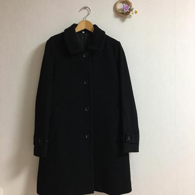 MUJI (無印良品)(ムジルシリョウヒン)の無印良品♡メルトンコート ブラック レディースのジャケット/アウター(ロングコート)の商品写真