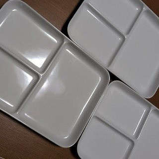 ムジルシリョウヒン(MUJI (無印良品))の無印良品 プレート三枚(食器)