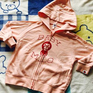 アベイシングエイプ(A BATHING APE)の🌀年末売り尽くし🌀BABY MiLOのフード付きパーカー★120(Tシャツ/カットソー)