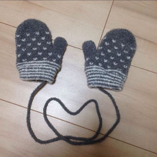MUJI (無印良品) - 新品 キッズ 無印良品 手袋 ベビー 紐付き