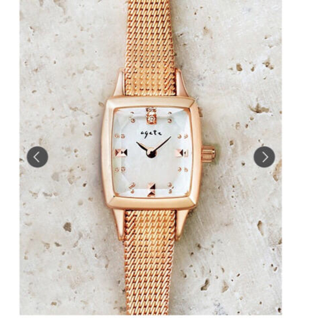 agete(アガット)の【kaori.rain様専用】Agete スクエアフェイスジュエリーウォッチ☆ レディースのファッション小物(腕時計)の商品写真