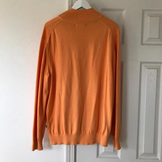 NAUTICA ハーフジップ  フリース オレンジ 【sullen購入】 メンズのトップス(スウェット)の商品写真