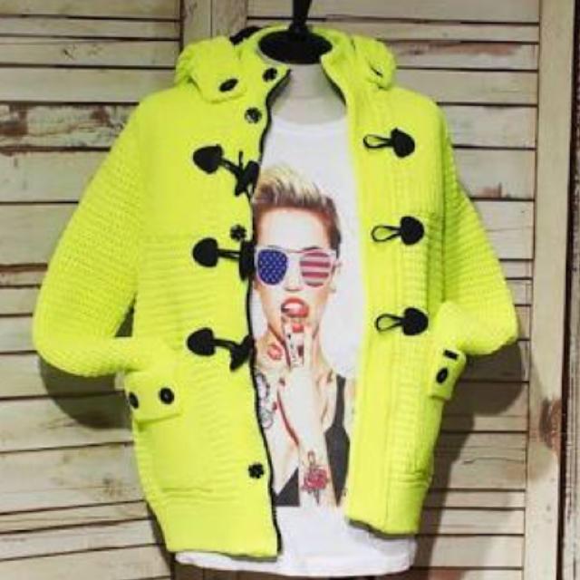 BARK(バーク)のバーク Bark ネオンイエロー アウター メンズのジャケット/アウター(ダッフルコート)の商品写真