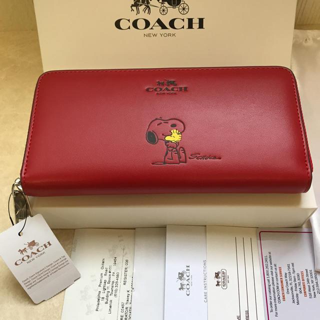 the latest 8a47b a0164 SALE COACH coach 長財布 スヌーピー コーチ 赤 | フリマアプリ ラクマ