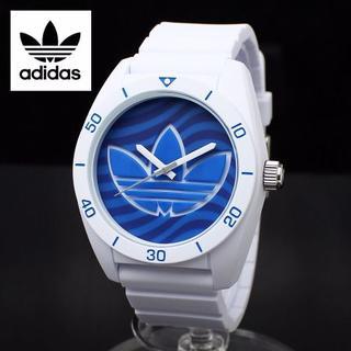 アディダス(adidas)の1年保証 ADIDAS アディダスサンティアゴ ADH3195 白 青(腕時計)