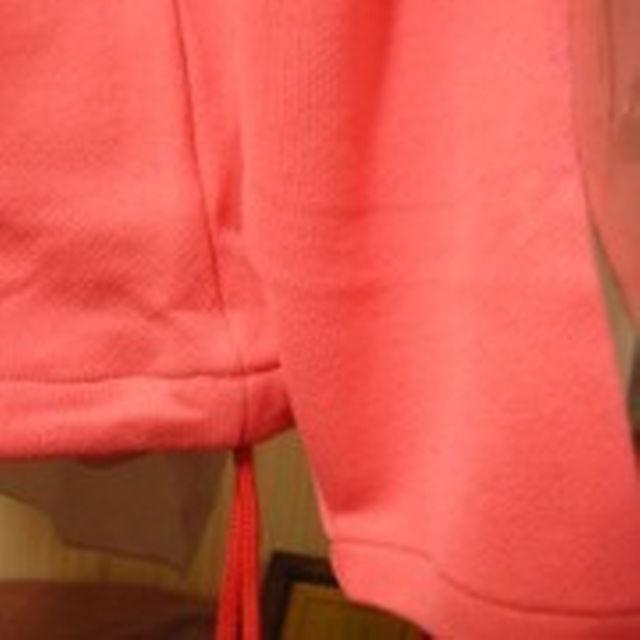 #1086 ジャンク市$PINKYな蛍光オレンジレッド 綿混スェットトレーナー メンズのトップス(スウェット)の商品写真