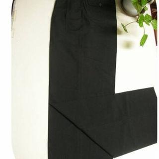 #SZ☆超個性派ブラック ツータック薄地ワイドパンツ W-71.5(スラックス)