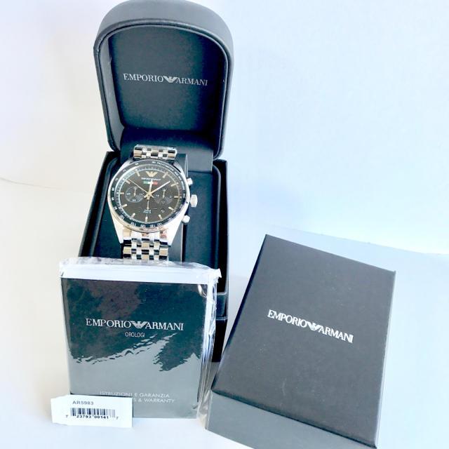 Emporio Armani(エンポリオアルマーニ)のエンポリオアルマーニ AR5983 シルバー×ブラック メンズの時計(腕時計(アナログ))の商品写真