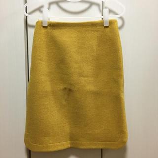 デミルクスビームス(Demi-Luxe BEAMS)のデミルクス ビームス マスタードスカート 36(ひざ丈スカート)