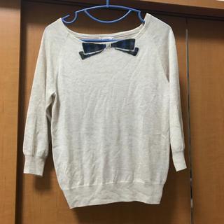 ボンメルスリー(Bon merceie)の試着のみ♡Bon mercerie♡柔らか素材の七分袖ニット♡アナトリエ (ニット/セーター)