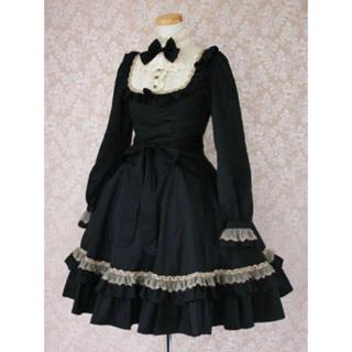 ヴィクトリアンメイデン(Victorian maiden)のクラシカルドールドレス/ブラック(ひざ丈ワンピース)