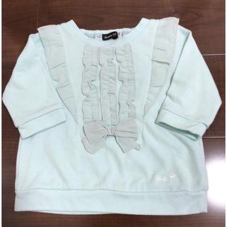 ベベ(BeBe)の美品♡BeBe リボンフリルトップス   90センチ(Tシャツ/カットソー)