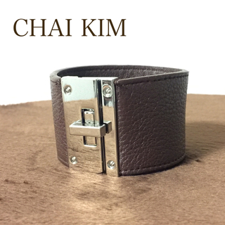 チャイキム(chaikim)のChaikim ブレスレット ブラウン レザー(ブレスレット/バングル)