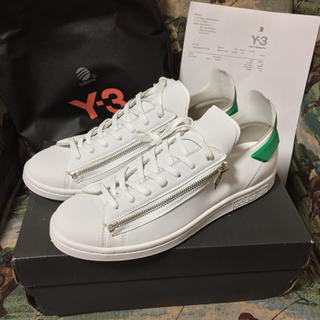 ワイスリー(Y-3)の【Y-3】STAN ZIP スタンジップ 完売名作 27.5 白×緑(スニーカー)