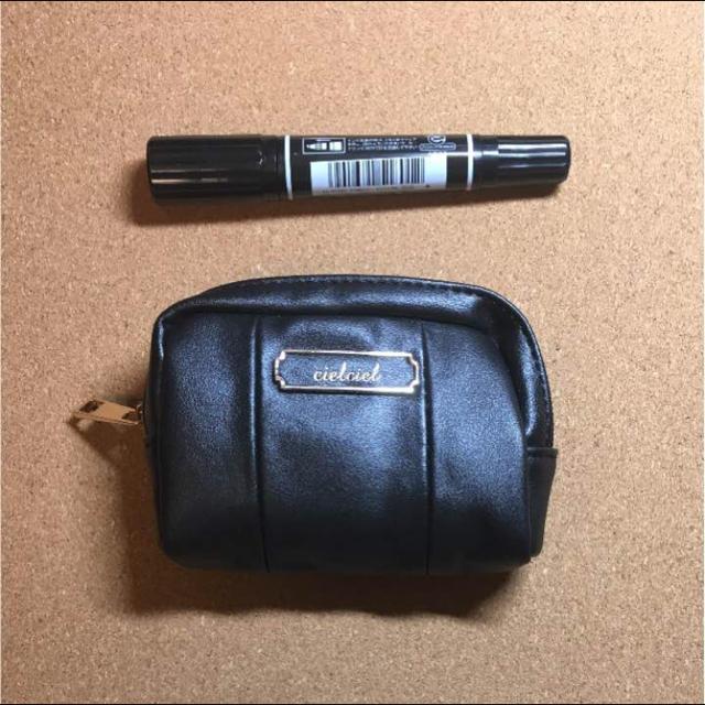 SatiS ポーチ 小さめ ブラック レディースのファッション小物(ポーチ)の商品写真