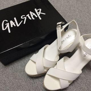 ギャルスター(GALSTAR)のGALSTAR 白サンダル(サンダル)