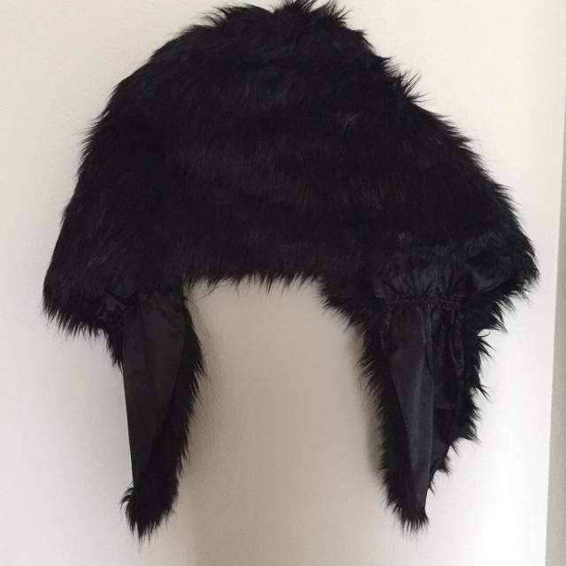 羽織り ブラック ファー レディースのジャケット/アウター(毛皮/ファーコート)の商品写真