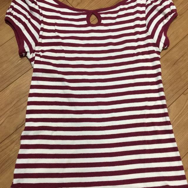 FREE'S SHOP(フリーズショップ)のフリーズショップ 赤白ボーダーTシャツ ウォーリー仮装にも! レディースのトップス(その他)の商品写真