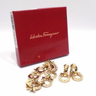 サルヴァトーレフェラガモ(Salvatore Ferragamo)のA370 美品 フェラガモ ガンチーニ ブレスレット&イヤリング ラインストーン(イヤリング)