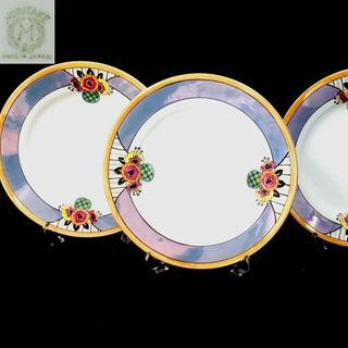 ノリタケ(Noritake)の里帰りM-NIPPON1921オールドノリタケラスト彩お皿3枚セット(食器)