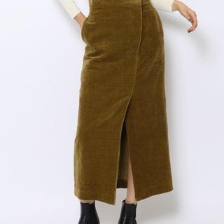 デプレ(DES PRES)のDESPRES ベルベットIラインスカート(ロングスカート)