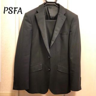オリヒカ(ORIHICA)のPSFA メンズ スーツ A4 ブラック シャドーストライプ(セットアップ)