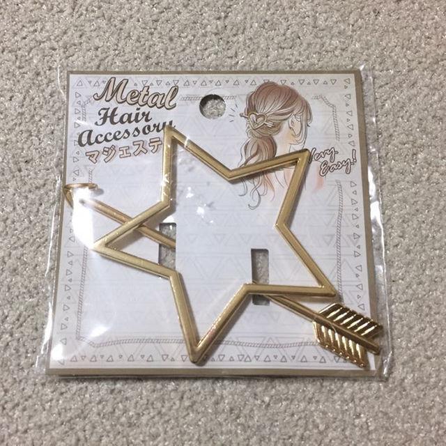 マジェステ 星 ゴールド レディースのヘアアクセサリー(その他)の商品写真