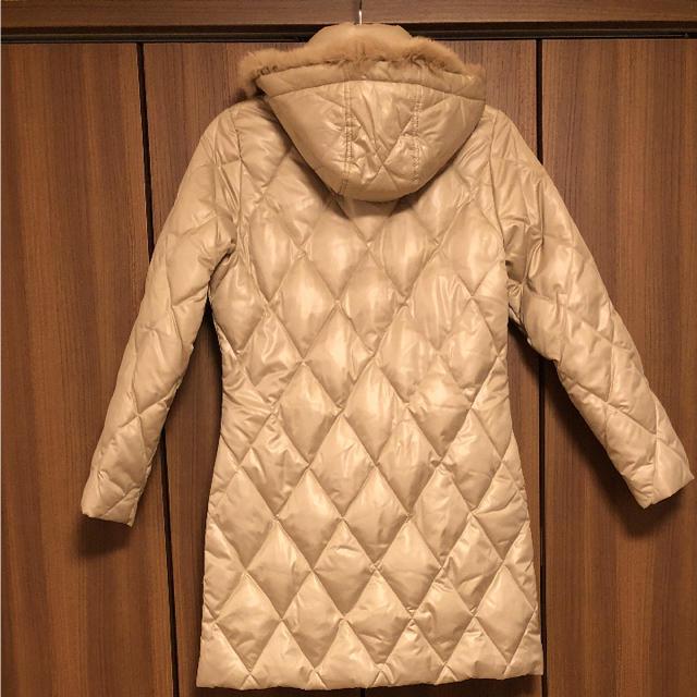 ベージュロングダウンコート* レディースのジャケット/アウター(ダウンコート)の商品写真