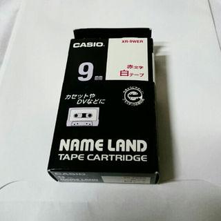 カシオ(CASIO)のCASIO カシオ ネームランド XR-9WER 赤文字白テープ(その他)