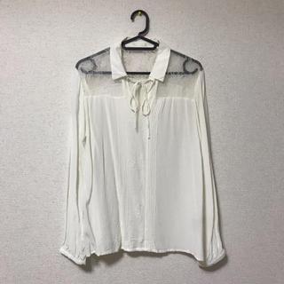 ジーユー(GU)のGU 白 シャツ(シャツ/ブラウス(長袖/七分))