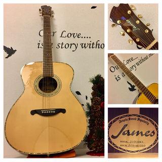 ジェームス(James)のkrm様専用 117.James JO900 NA❗️All単板❗️PU付‼️(アコースティックギター)