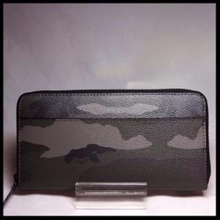 コーチ(COACH)の新品 COACH F75099グレーカモフラージュ長財布(財布)