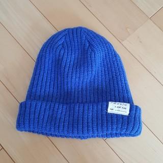 レプシィム(LEPSIM)の美品 レプシム ニット帽 ニットキャップ ニット ブルー 帽子 冬(ニット帽/ビーニー)