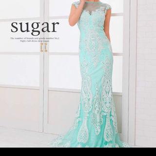 Sugar マーメイドシースルー刺繍ロングドレスキャバ