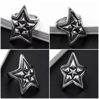 チタンステンレス黒墨コーティングスターリング(リング(指輪))