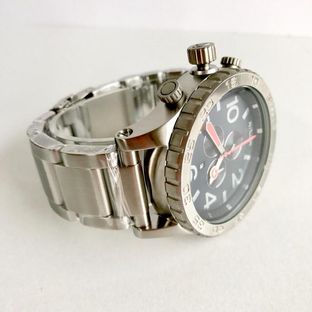 NIXON(ニクソン)のニクソン 51-30 A083-307 シルバー×ネイビー メンズの時計(腕時計(アナログ))の商品写真