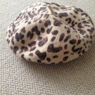 ミルクフェド(MILKFED.)のレオパードベレー♥可愛いベージュ(ハンチング/ベレー帽)