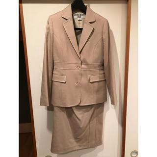 ナチュラルビューティーベーシック(NATURAL BEAUTY BASIC)の【NATURAL BEAUTY BASIC】ベージュ ウール スーツ(スーツ)